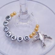 Bird Personalised Wine Glass Charm